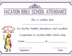 certificate templates for vbs - Vbs Certificate Template