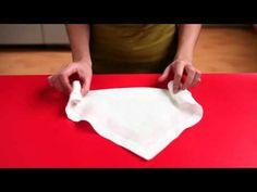Δίπλωμα χαρτοπετσέτας ή πετσέτας για την διακόσμιση του τραπεζιού. - YouTube