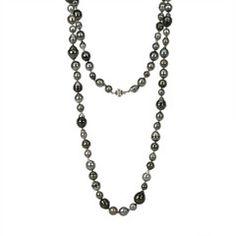 "Tahitian Pearl Necklace 33"" 14k"