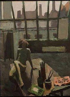 "huariqueje: ""Studio Interior with Model - Fritiof Schüldt, 1936 Swedish, 1891-1978 Oil on canvas, 145 x 109 cm. """