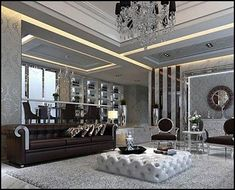 Old Hollywood Decor Living Room | Sophisticated glitz and glam, with sparkle and shine.