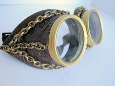 Steampunk Goggles Air Pirate Eyewear - Brown