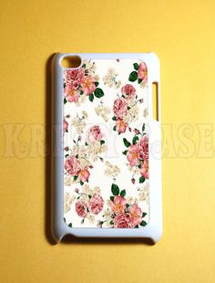 Ipod Touch 4 Case -  Vintage Flower Ipod 4G Touch Case, 4th Gen Ipod Touch Cases on Etsy, $13.95