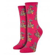 Purple Leopard Boutique - Socksmith Women's Sloth Bling Raspberry Red Crew Socks Novelty Footwear, $13.00 (http://www.purpleleopardboutique.com/socksmith-womens-sloth-bling-raspberry-red-crew-socks-novelty-footwear/)