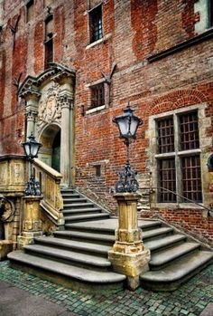 Old town hall stairs (Gdansk, Poland)
