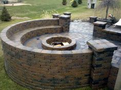 Seat Wall With Fire Pit