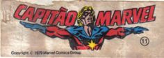 Capitão Marvel - Essa é uma coleção de 36 figurinhas dos Super-Heróis da Marvel, do chiclete Ping-Pong, lançadas em 1979, as quais colecionei todas e colei na cômoda do quarto, como todo mundo fez.