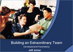 Building an Extraordinary Team