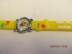 Winnie The Pooh Children Yellow Cartoon PVC Band Quartz Wrist watch Toy 212