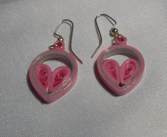 Small 1 Pink and Gray Teardrop and Heart 2K by RheasOriginals