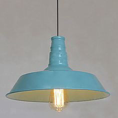 Bulb Included Pendant, 1 Light, American Style Rustic Metal Painting – USD $ 125.99