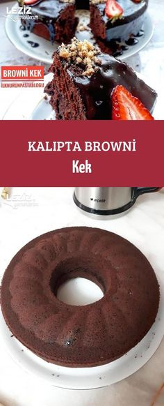10 Minuets : Brownie Cake in Mold Brownie Cake, Dessert Recipes, Desserts, Doughnut, Tea Time, Smoothies, Food And Drink, Snacks, Cookies