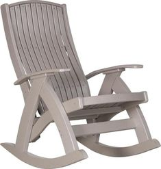 LuxCraft Poly Comfort Rocker Comfy, cozy, colorful and ultra durable. Made with recycled plastic this poly outdoor furniture looks gorgeous and feels great. Pick from a variety of fun poly colors. Add cushions and cup holders to customize.
