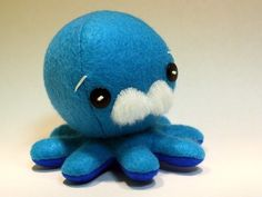 Ooh more reasonably priced octopus plushie but without the fun curly tentacles.  But this comes with cute old man eyebrows and mustache!