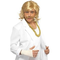 Game Show Host Kit, Wig and Tash Blonde