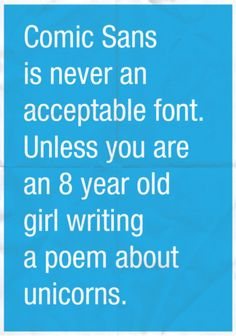 comic sans: the one you've been waiting for.