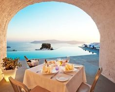 Santorini Grace Boutique Hotel - Σαντορίνη www. Imerovigli Santorini, Santorini Hotels, Santorini Island, Santorini Wedding, Mykonos, Greece Wedding, Romantic Destinations, Honeymoon Destinations, Honeymoon Fund