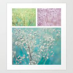 Wildflowers ~ triptych Art Print by Anne Staub - $19.76