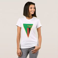 #women - #Zambia Flag Triangle Womens T-Shirt
