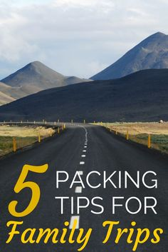 5 Packing Tips for Families: Tricks and hacks for making packing for your next family vacation much easier.