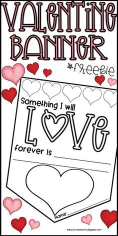 Valentine Banner Freebie: Last Minute Valentine's Day Printables and Freebies   Erica's Ed-Ventures