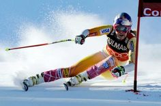Lindsey Vonn- gold medal in women's World Cup super-G, Italy 2012