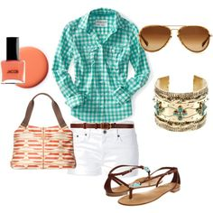 Country picnic outfit.