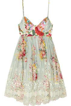 Zimmermann|Sundance embroidered cotton dress|NET-A-PORTER.COM