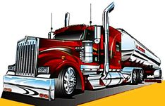 Kenworth Trucks, Mack Trucks, Big Rig Trucks, Ed Roth Art, All Truck, Truck Paint, World Of Gumball, Trailers, Car Drawings