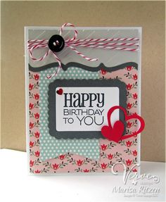 Handmade card by Marisa Ritzen using the Birthday to You  plain jane from Verve.  #vervestamps