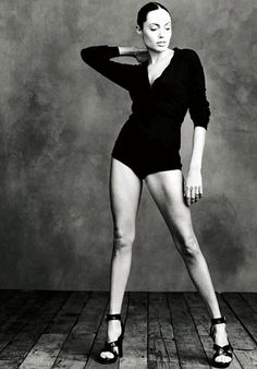Angelina Jolie by Annie Leibovitz This is a great picture of Angeline Jolie because she is modelling in this picture and it show all her body and the camera really show loads.
