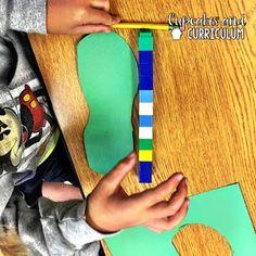Cupcakes & Curriculum: Non-Standard Measurement in First Grade First Grade Measurement, Nonstandard Measurement, Measurement Activities, First Grade Activities, Math Activities, First Grade Classroom, 1st Grade Math, Second Grade, Grade 1
