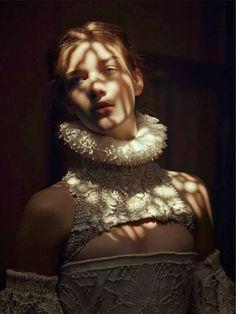 """Light my fire"" - Elena Bartels in Alexander McQueen by Baud Postma"
