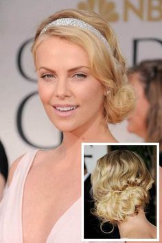 up-do, hairstyle, Charlise Therone, beauty, celebrities, glam