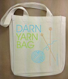 un tote bag....customisé pour une aiguilleuse !