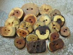 Wooden Button Grab Bag. 20 Buttons. by PymatuningCrafts on Etsy, $13.00