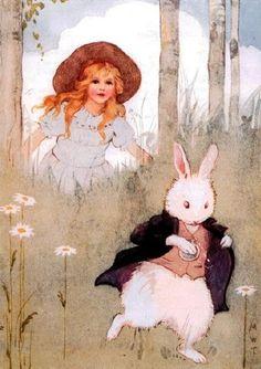 Margaret Tarrant - Alice chases the rabbit.