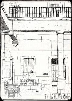 Urban Sketchers: En las Bicitecas