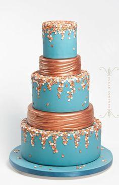 Robin Egg Blue + Rose #WeddingCake I Sugar Couture I http://www.weddingwire.com/biz/sugar-couture-brooklyn/portfolio/c8b39775353d53c1.html?page=1subtab=albumalbumId=91afd8ff7db970fd#vendor-storefront-content