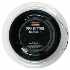 Gain incredible spin with Tourna Big Hitter Black featuring a comfortable feel and a seven-sided shape for the most spin of any Tourna string to date. Racquet Sports, Black 7, Tennis, The Incredibles, Spin, Medium, Create, Nature, Outdoors