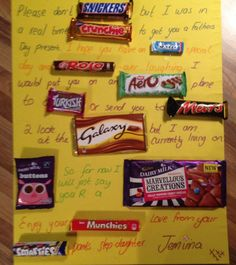 Father's Day Ideas! Thrifty but Thoughtful! – There's More to Life than Housework! Candy Birthday Cards, Birthday Gifts For Best Friend, Friend Birthday Gifts, Candy Cards, 18th Birthday Present Ideas, Birthday Presents For Mum, Birthday Wishes, Homemade Birthday Gifts, Homemade Fathers Day Gifts