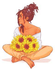 "batcii: hewalksinstarlight asked for ""jehan plus flowers?"""