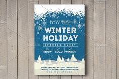 Winter Holiday Flyer by Rafoz on @Graphicsauthor