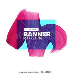 Girly pink/blue lipstick smear element for fashion media banners for booklet covers, flyers, poster, placards instagram, facebook, twitter.