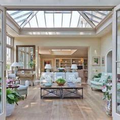 Orangery with bi-fold doors classic style conservatory by vale garden houses classic Home Office Design, Interior Design Kitchen, Conservatory Design, Sunroom Addition, House Extension Design, Roof Design, Design Design, House Design, Home Estimate