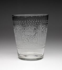 RISD Museum: Unknown artist, American, U.S.A.; United States of America. Glass, late 18th century. Glass. Height: 16.5 cm (6 1/2 inches). Mary B. Jackson Fund 42.067