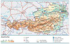 Article présentant une (ou plusieurs) carte de l'Autriche. Le pays est en Europe et vous pourrez ainsi découvrir les lieux touristiques, grandes villes...