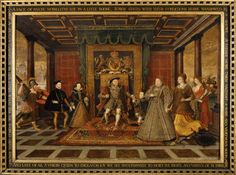 A painting by Lucas de Heere,The Family of Henry VII: Allegory of the Tudor Succession, 1571-2. © National Museum of Wales