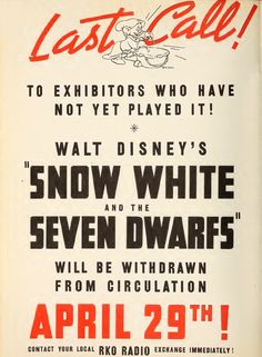 the original snow white movie advertising - Google Search
