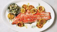 This simple relish provides a briny crunch in the Crisp Grilled Salmon With Fennel-Olive Relish. Reserve the fennel fronds for garnishing the salmon, if desired. Fish Dishes, Seafood Dishes, Fish And Seafood, Seafood Recipes, Main Dishes, Fennel Recipes, Relish Recipes, Salmon Recipes, Tilapia Recipes